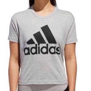 Adidas Grey black shirt crew neck t-shirt NWT